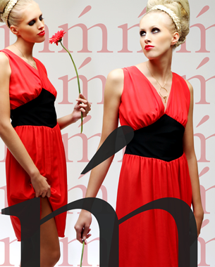 Material: 100% Seide Preis: 199,- Euro inkl. MwSt.  Fotografin: Marlene Mondorf Haare & Make Up: Dorothée Hartmann Model: Melanie